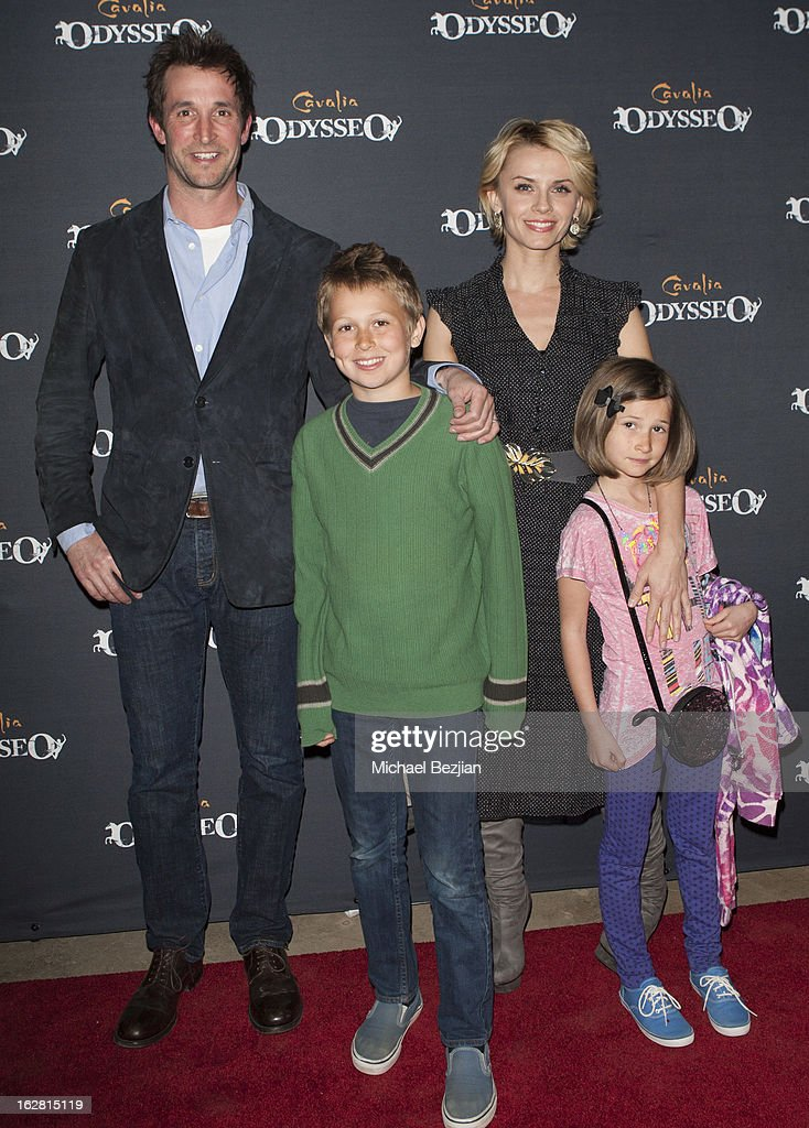 Actor Noah Wylie and family attends Celebrity Red Carpet Opening For Cavalia's 'Odysseo' at Cavalia's Odysseo Village on February 27, 2013 in Burbank, California.