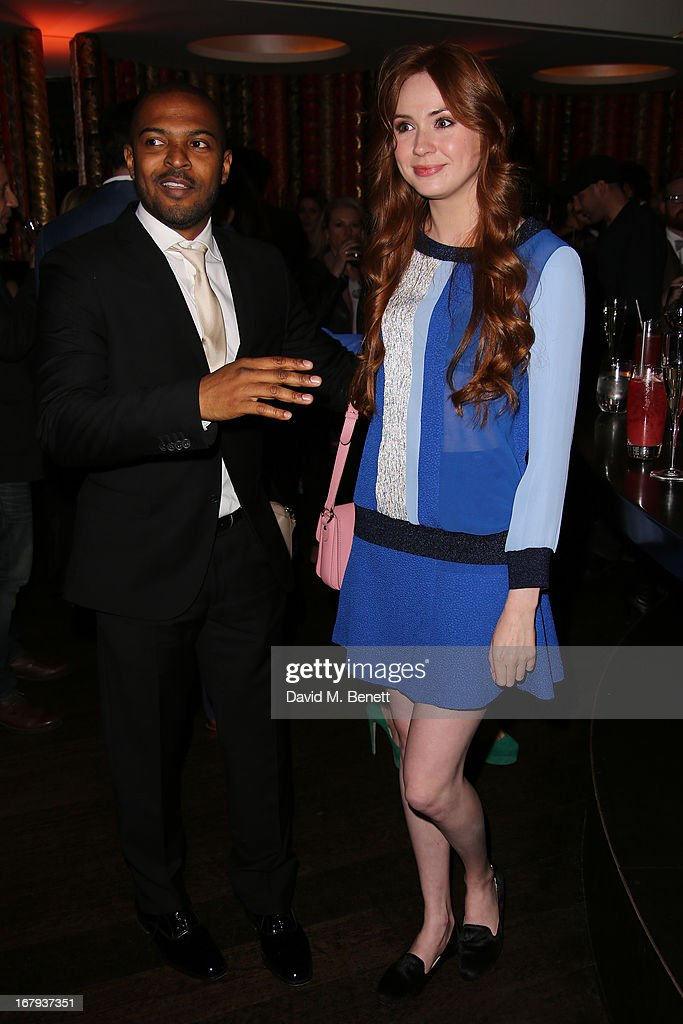 Actor Noel Clarke and Karen Gillan attend the UK Premiere - After Party of 'Star Trek Into Darkness' at Aqua on May 2, 2013 in London, England.