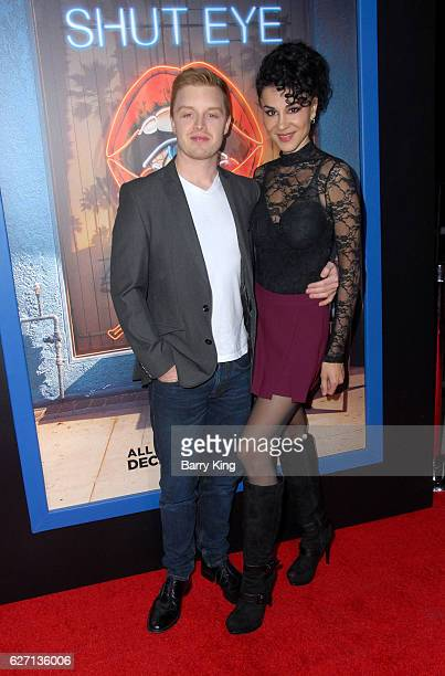 Actor Noel Fisher and actress Layla Alizada attend the premiere of Hulu's 'Shut Eye' at ArcLight Hollywood on December 1 2016 in Hollywood California