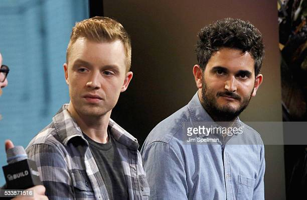 Actor Noel Fisher and director David Green attend AOL Build Presents cast and director of 'TMNT 2' at AOL Studios on May 23 2016 in New York City