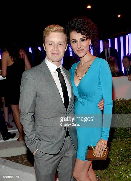 Actor Noel Fisher and Layla Alizada attend the Audi Celebrates Emmys Week 2015 at Cecconi's Restaurant on September 17 2015 in Los Angeles California