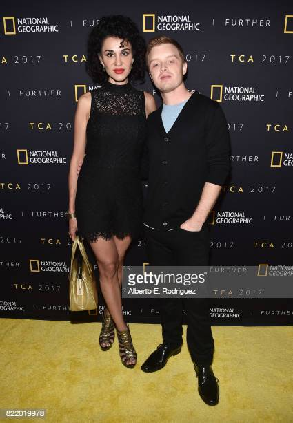 Actor Noel Fisher and wife Layla Alizada attend the 2017 Summer TCA Tour National Geographic Party at The Waldorf Astoria Beverly Hills on July 24...