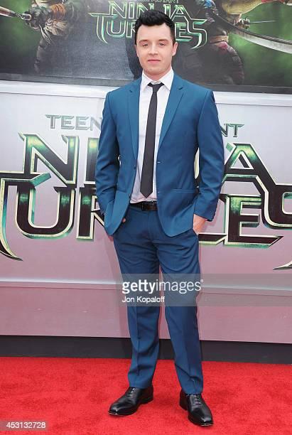 Actor Noel Fisher arrives at the Los Angeles Premiere 'Teenage Mutant Ninja Turtles' at Regency Village Theatre on August 3 2014 in Westwood...