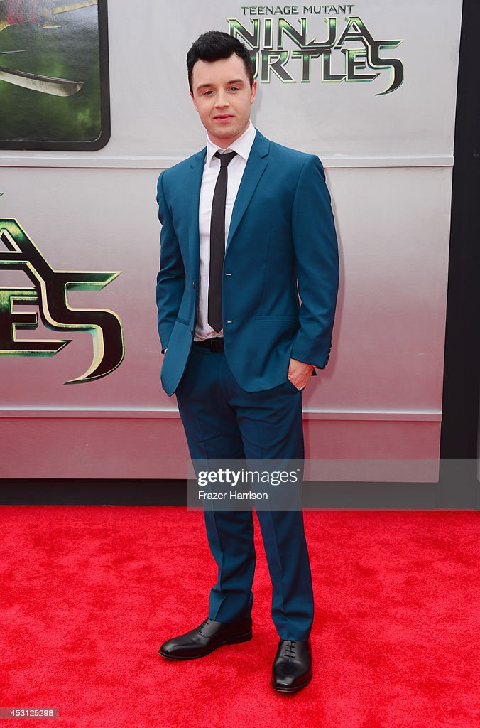 Actor Noel Fisher attends Paramount Pictures' 'Teenage Mutant Ninja Turtles' premiere at Regency Village Theatre on August 3, 2014 in Westwood, California.