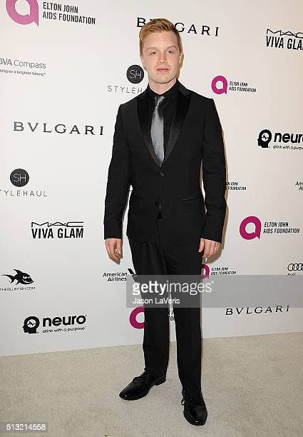 Actor Noel Fisher attends the 24th annual Elton John AIDS Foundation's Oscar viewing party on February 28 2016 in West Hollywood California