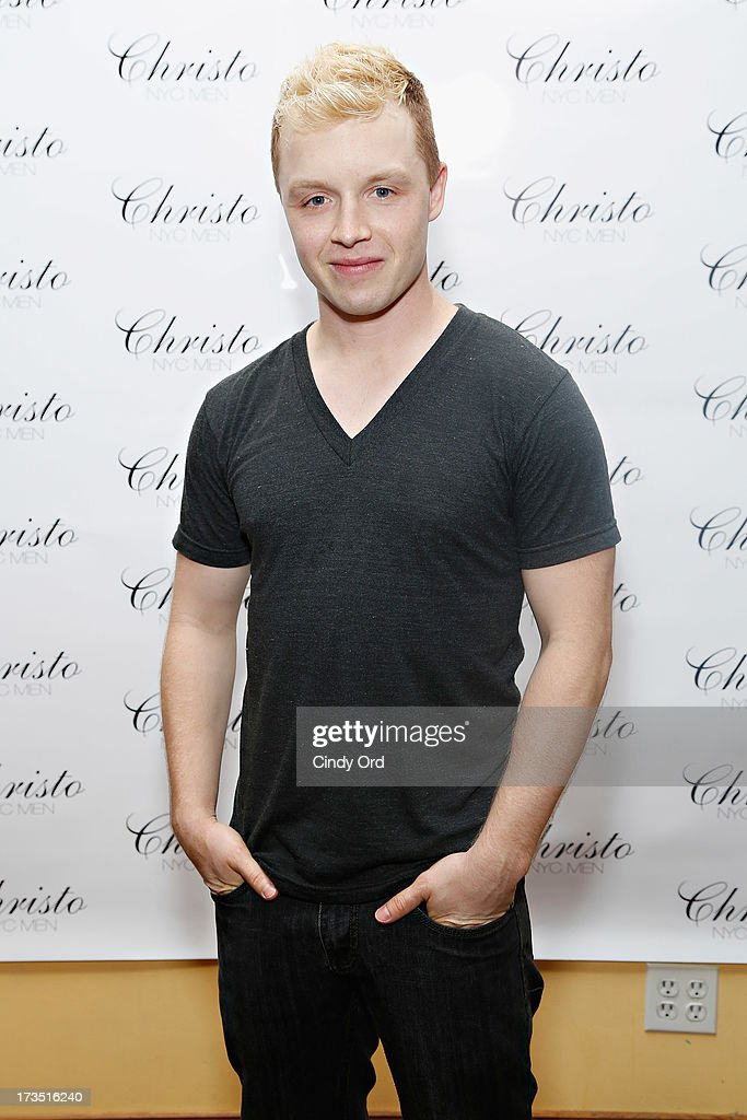 Actor Noel Fisher attends the Christo Men NYC Press Preview at Christo Fifth Ave on July 15, 2013 in New York City.