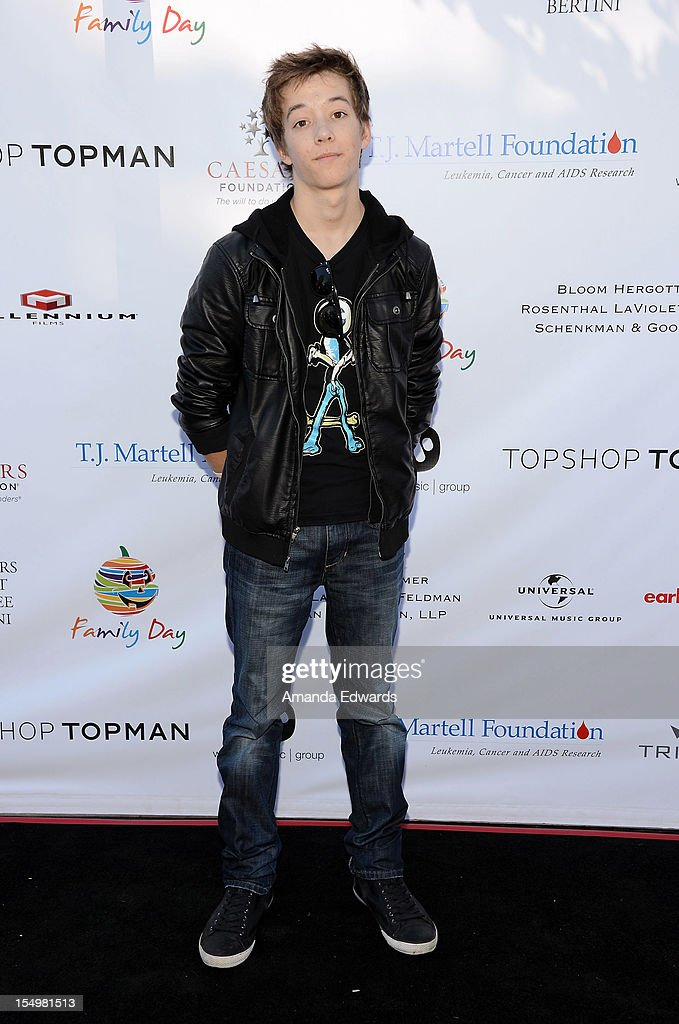 Actor Nolan Bateman arrives at the TJ Martell Foundation 4th Annual Family Day LA at CBS Studios - Radford on October 28, 2012 in Studio City, California.