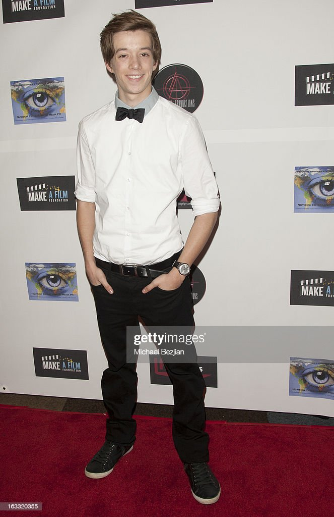 Actor Nolan Bateman attends Make A Film Foundation's 'Kidz 4 Kidz' Comedy 4 A Cau$e Benefit Show at Writers Guild Theater on March 7, 2013 in Beverly Hills, California.