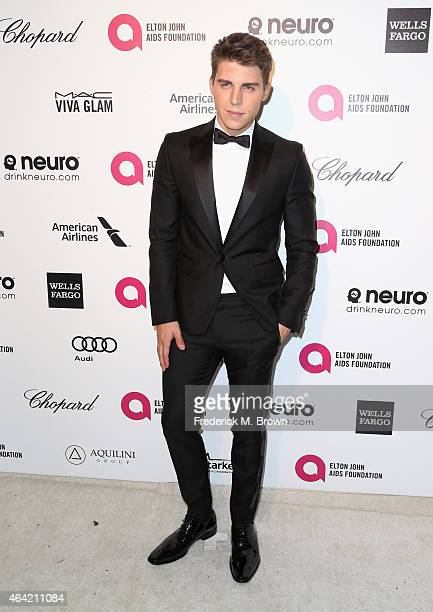 Actor Nolan Funk attends the 23rd Annual Elton John AIDS Foundation's Oscar Viewing Party on February 22 2015 in West Hollywood California
