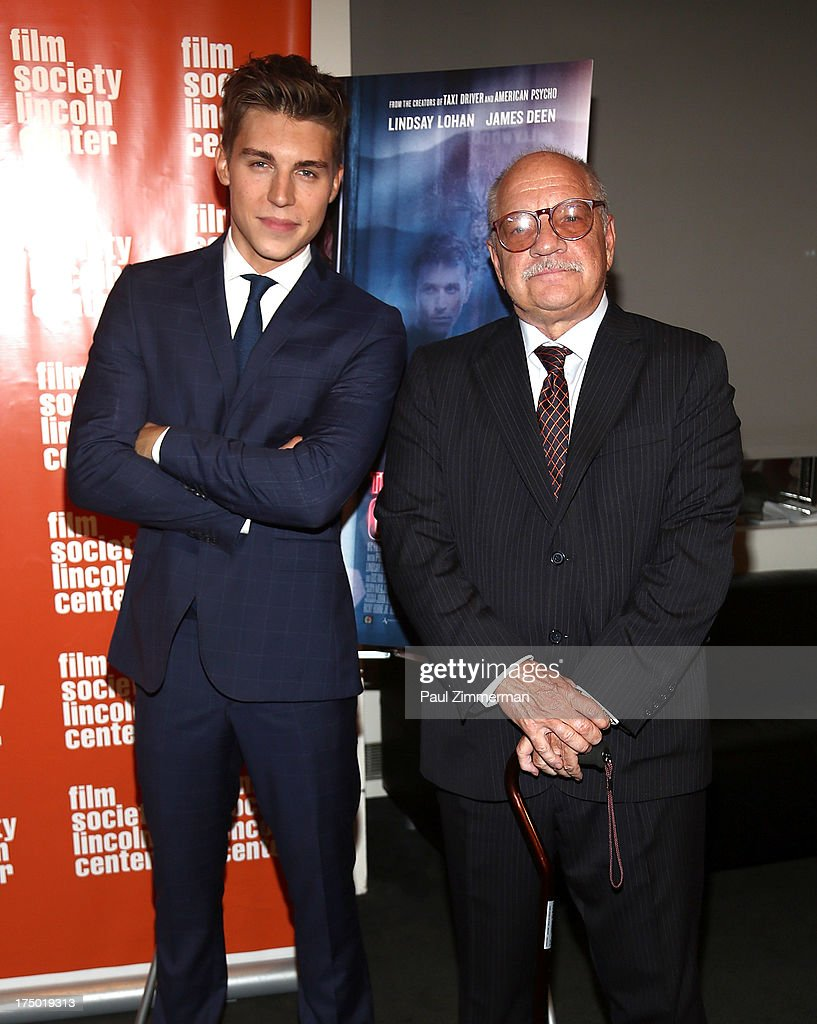 Actor <a gi-track='captionPersonalityLinkClicked' href=/galleries/search?phrase=Nolan+Gerard+Funk&family=editorial&specificpeople=5626391 ng-click='$event.stopPropagation()'>Nolan Gerard Funk</a> and director <a gi-track='captionPersonalityLinkClicked' href=/galleries/search?phrase=Paul+Schrader&family=editorial&specificpeople=984760 ng-click='$event.stopPropagation()'>Paul Schrader</a> attend the 'The Canyon' premiere at The Film Society of Lincoln Center, Walter Reade Theatre on July 29, 2013 in New York City.