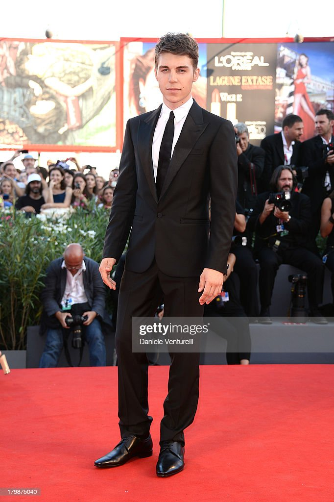 Actor <a gi-track='captionPersonalityLinkClicked' href=/galleries/search?phrase=Nolan+Gerard+Funk&family=editorial&specificpeople=5626391 ng-click='$event.stopPropagation()'>Nolan Gerard Funk</a> arrives at the closing ceremony of the 70th Venice International Film Festival at Palazzo del Cinema on September 7, 2013 in Venice, Italy.