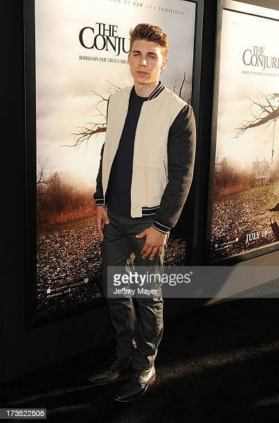 Actor Nolan Gerard Funk arrives at 'The Conjuring' Los Angeles Premiere at the ArcLight Cinemas Cinerama Dome on July 15 2013 in Hollywood California
