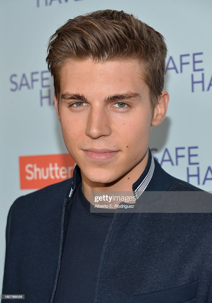 Actor Nolan Gerard Funk arrives at the premiere of Relativity Media's 'Safe Haven' at TCL Chinese Theatre on February 5, 2013 in Hollywood, California.