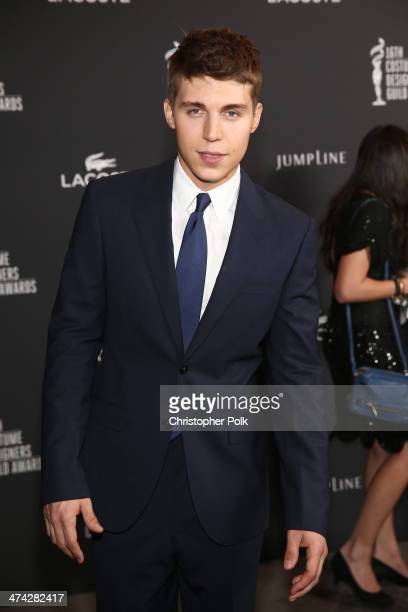 Actor Nolan Gerard Funk attends the 16th Costume Designers Guild Awards with presenting sponsor Lacoste at The Beverly Hilton Hotel on February 22...
