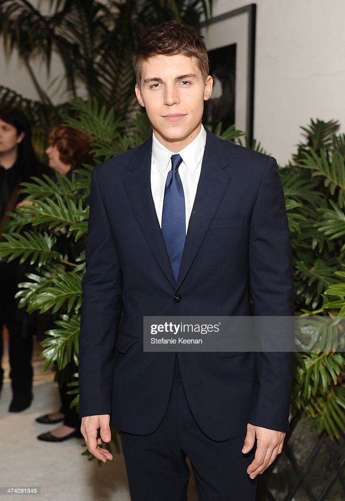 Actor Nolan Gerard Funk attends the 16th Costume Designers Guild Awards with presenting sponsor Lacoste at The Beverly Hilton Hotel on February 22, 2014 in Beverly Hills, California.