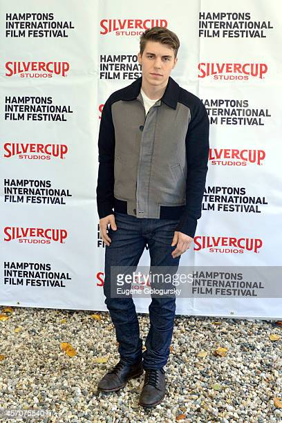 Actor Nolan Gerard Funk attends the Chairmans Reception during the 2014 Hamptons International Film Festival on October 11 2014 in East Hampton New...