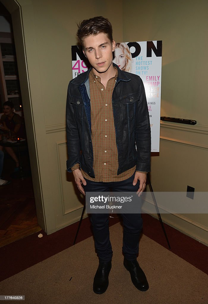 Actor Nolan Gerard Funk attends the NYLON September Issue Party hosted by NYLON, ASOS and Emily VanCamp at The Redbury Hotel on August 24, 2013 in Hollywood, California.