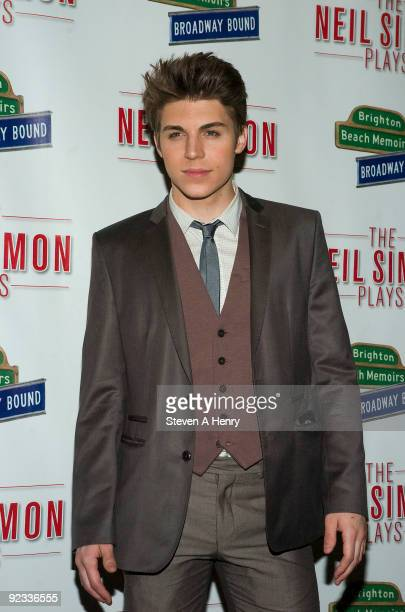 Actor Nolan Gerard Funk attends the opening night of 'Brighton Beach Memoirs' on Broadway at the Nederlander Theatre on October 25 2009 in New York...
