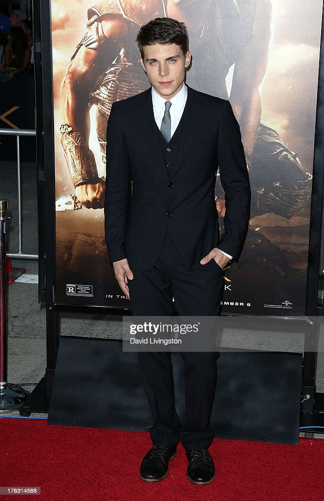 Actor <a gi-track='captionPersonalityLinkClicked' href=/galleries/search?phrase=Nolan+Gerard+Funk&family=editorial&specificpeople=5626391 ng-click='$event.stopPropagation()'>Nolan Gerard Funk</a> attends the premiere of Universal Pictures' 'Riddick' at the Mann Village Theatre on August 28, 2013 in Westwood, California.