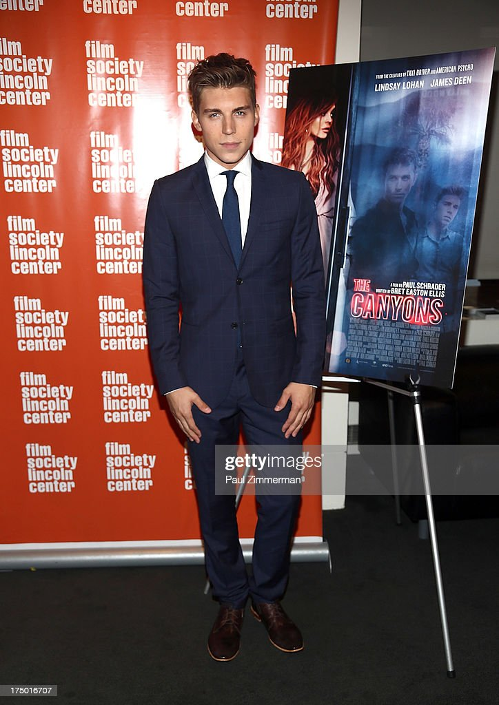 Actor Nolan Gerard Funk attends the 'The Canyon' premiere at The Film Society of Lincoln Center, Walter Reade Theatre on July 29, 2013 in New York City.