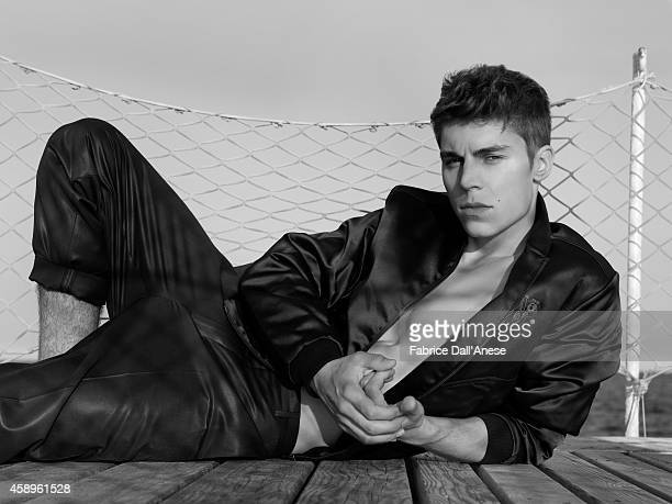Actor Nolan Gerard Funk is photographed for Vanity Fair Italy on September 1 2013 in Venice Italy
