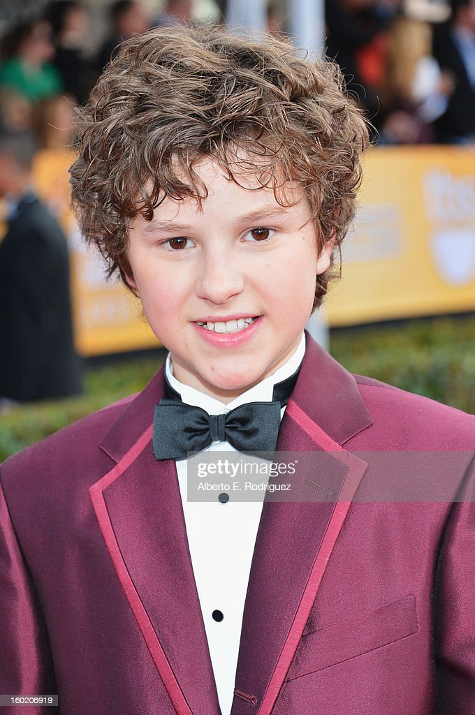 Actor Nolan Gould arrives at the 19th Annual Screen Actors Guild Awards held at The Shrine Auditorium on January 27, 2013 in Los Angeles, California.