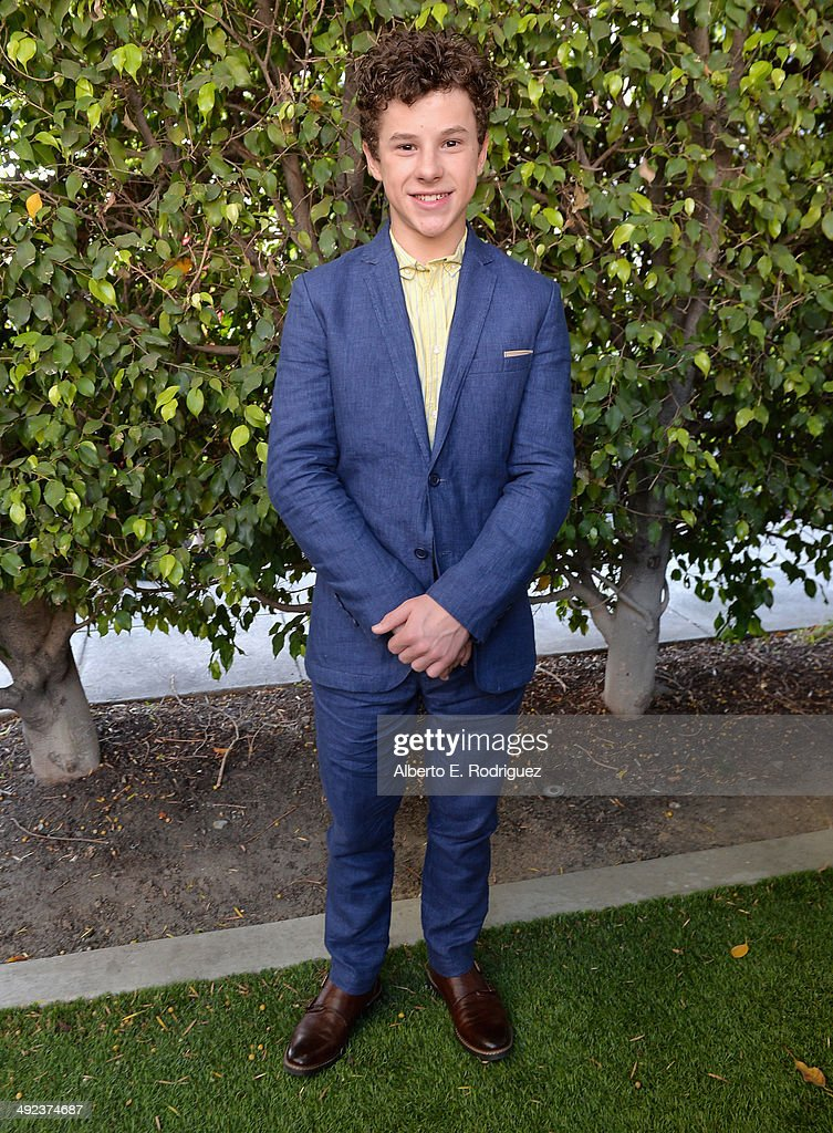 Actor <a gi-track='captionPersonalityLinkClicked' href=/galleries/search?phrase=Nolan+Gould&family=editorial&specificpeople=5691358 ng-click='$event.stopPropagation()'>Nolan Gould</a> attends a 'Modern Family' Wedding episode screening at Zanuck Theater at 20th Century Fox Lot on May 19, 2014 in Los Angeles, California.