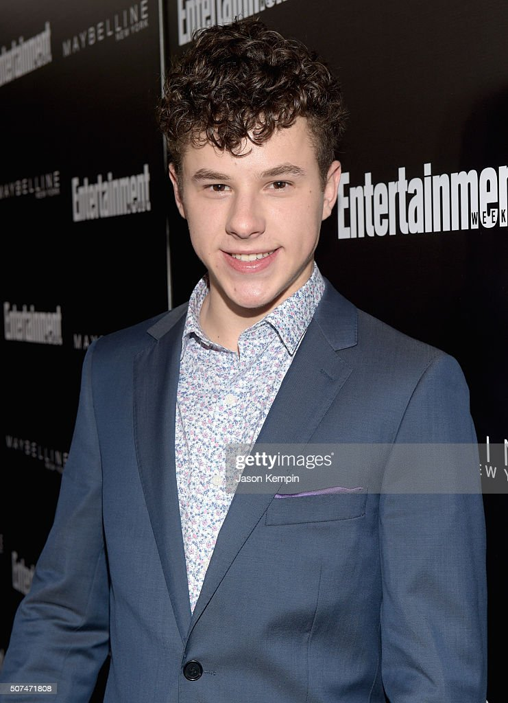 Actor <a gi-track='captionPersonalityLinkClicked' href=/galleries/search?phrase=Nolan+Gould&family=editorial&specificpeople=5691358 ng-click='$event.stopPropagation()'>Nolan Gould</a> attends Entertainment Weekly Celebration Honoring The Screen Actors Guild Awards Nominees presented by Maybelline at Chateau Marmont In Los Angeles on January 29, 2016 in Los Angeles, California.