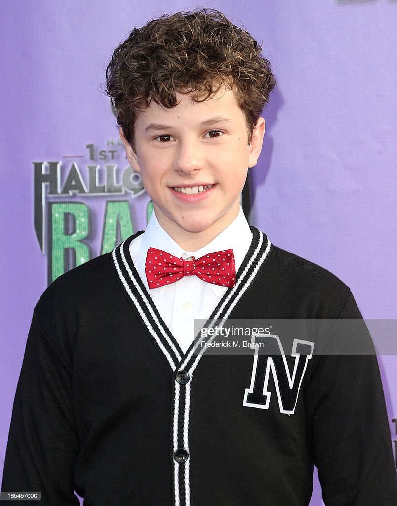Actor <a gi-track='captionPersonalityLinkClicked' href=/galleries/search?phrase=Nolan+Gould&family=editorial&specificpeople=5691358 ng-click='$event.stopPropagation()'>Nolan Gould</a> attends Hub Network's First Annual Halloween Bash in Barker Hangar at the Santa Monica Airport on October 20, 2013 in Santa Monica, California.