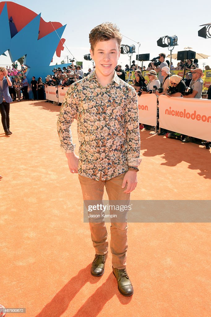 Actor <a gi-track='captionPersonalityLinkClicked' href=/galleries/search?phrase=Nolan+Gould&family=editorial&specificpeople=5691358 ng-click='$event.stopPropagation()'>Nolan Gould</a> attends Nickelodeon's 28th Annual Kids' Choice Awards held at The Forum on March 28, 2015 in Inglewood, California.