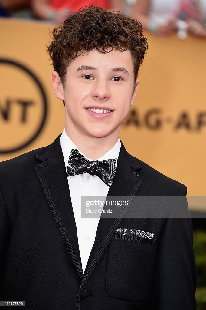 Actor <a gi-track='captionPersonalityLinkClicked' href=/galleries/search?phrase=Nolan+Gould&family=editorial&specificpeople=5691358 ng-click='$event.stopPropagation()'>Nolan Gould</a> attends the 21st Annual Screen Actors Guild Awards at The Shrine Auditorium on January 25, 2015 in Los Angeles, California.