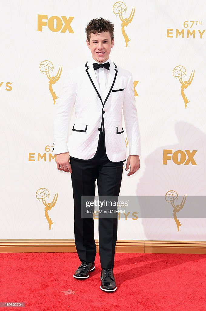 Actor <a gi-track='captionPersonalityLinkClicked' href=/galleries/search?phrase=Nolan+Gould&family=editorial&specificpeople=5691358 ng-click='$event.stopPropagation()'>Nolan Gould</a> attends the 67th Annual Primetime Emmy Awards at Microsoft Theater on September 20, 2015 in Los Angeles, California.