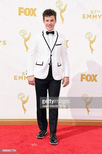 Actor Nolan Gould attends the 67th Annual Primetime Emmy Awards at Microsoft Theater on September 20 2015 in Los Angeles California