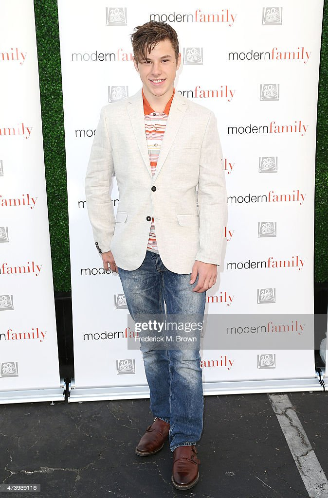 Actor <a gi-track='captionPersonalityLinkClicked' href=/galleries/search?phrase=Nolan+Gould&family=editorial&specificpeople=5691358 ng-click='$event.stopPropagation()'>Nolan Gould</a> attends the ATAS Screening of the 'Modern Family' Season Finale 'American Skyper' at the Fox Studio Lot on May 18, 2015 in Century City, California.