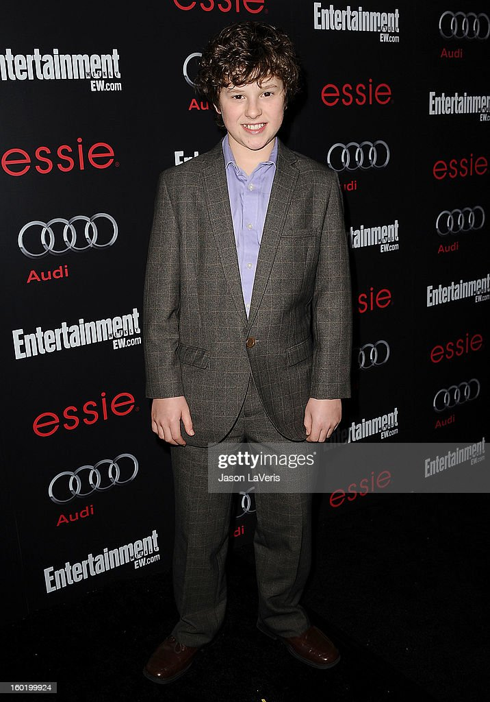 Actor Nolan Gould attends the Entertainment Weekly Screen Actors Guild Awards pre-party at Chateau Marmont on January 26, 2013 in Los Angeles, California.