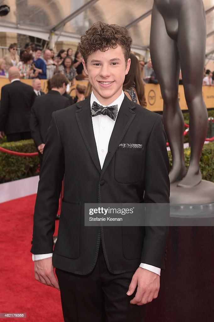 Actor <a gi-track='captionPersonalityLinkClicked' href=/galleries/search?phrase=Nolan+Gould&family=editorial&specificpeople=5691358 ng-click='$event.stopPropagation()'>Nolan Gould</a> attends TNT's 21st Annual Screen Actors Guild Awards at The Shrine Auditorium on January 25, 2015 in Los Angeles, California. 25184_022