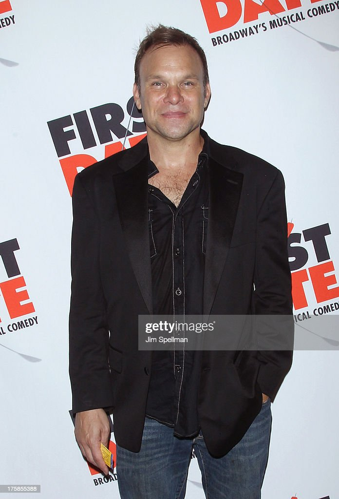 Actor <a gi-track='captionPersonalityLinkClicked' href=/galleries/search?phrase=Norbert+Leo+Butz&family=editorial&specificpeople=206859 ng-click='$event.stopPropagation()'>Norbert Leo Butz</a> attends 'First Date' Broadway Opening Night at Longacre Theatre on August 8, 2013 in New York City.