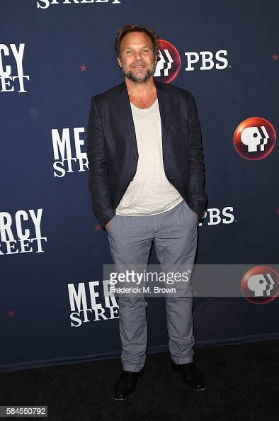 Actor Norbert Leo Butz attends the 'Mercy Street Season 2' panel discussion at the PBS portion of the 2016 Television Critics Association Summer Tour...