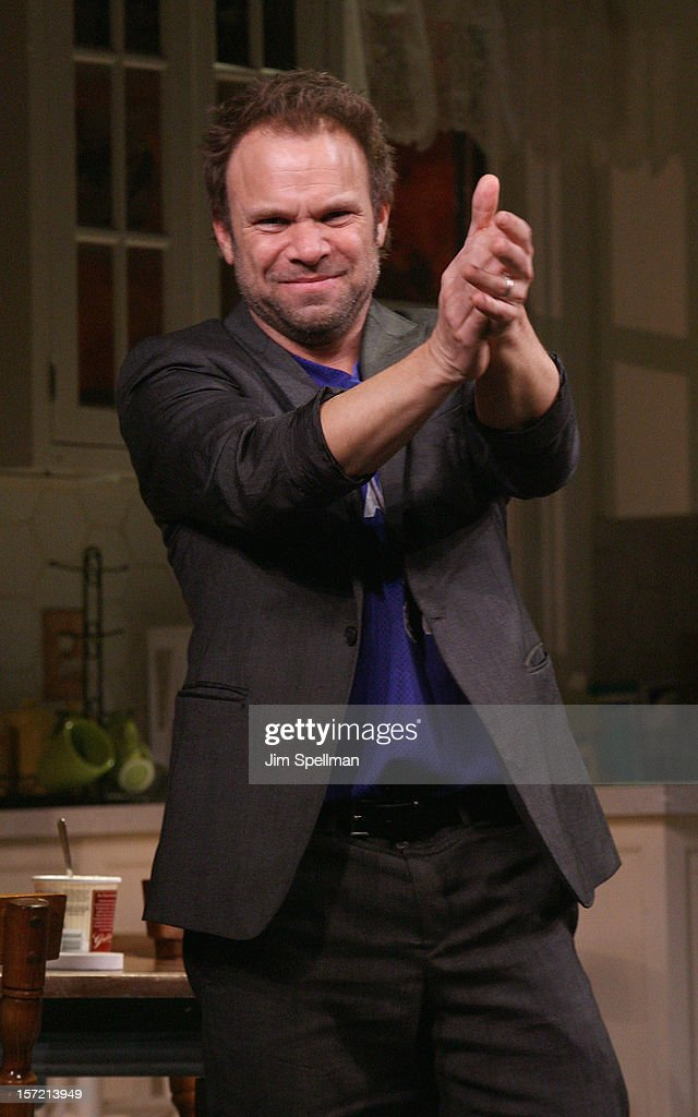 Actor Norbert Leo Butz performs 'Dead Accounts' Broadway Opening Night at Music Box Theatre on November 29, 2012 in New York City.