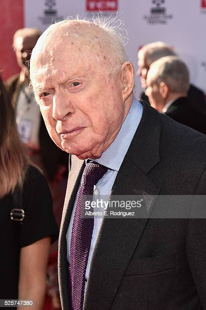 Actor Norman Lloyd attends 'All The President's Men' premiere during the TCM Classic Film Festival 2016 Opening Night on April 28 2016 in Los Angeles...