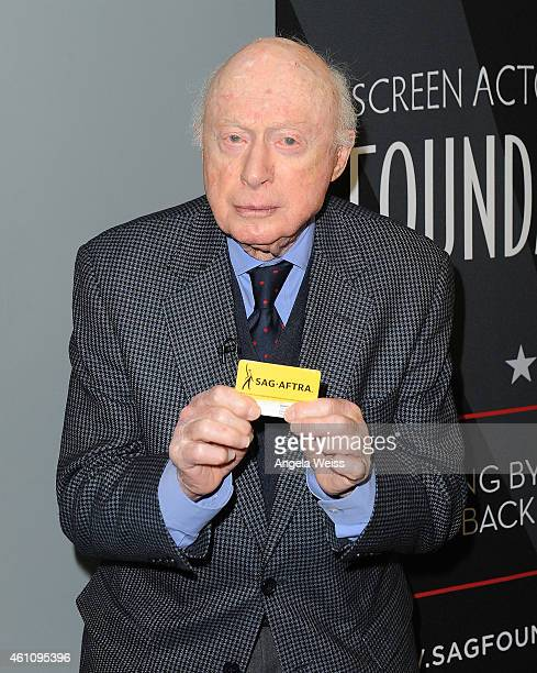 Actor Norman Lloyd attends his Career Reflection and QA at SAG Foundation Actors Center on January 6 2015 in Los Angeles California