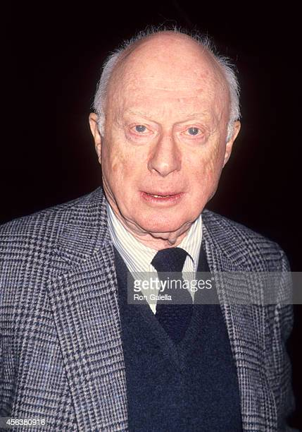 Actor Norman Lloyd attends Hollywood's Private Political Party for White House Press Secretary Dee Dee Myers on March 20 1994 at Spago in West...
