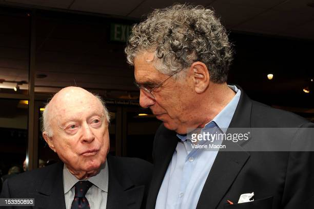 Actor Norman Lloyd attends The Academy Of Motion Picture Arts And Sciences' Presents The 60th Anniversary Screening Of 'Limelight' at AMPAS Samuel...