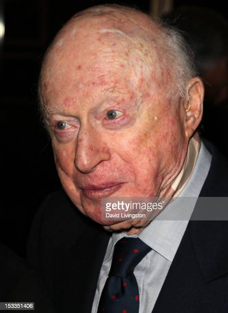 Actor Norman Lloyd attends the Academy of Motion Picture Arts and Sciences presentation of the 60th anniversary of Chaplin's 'Limelight' at the AMPAS...