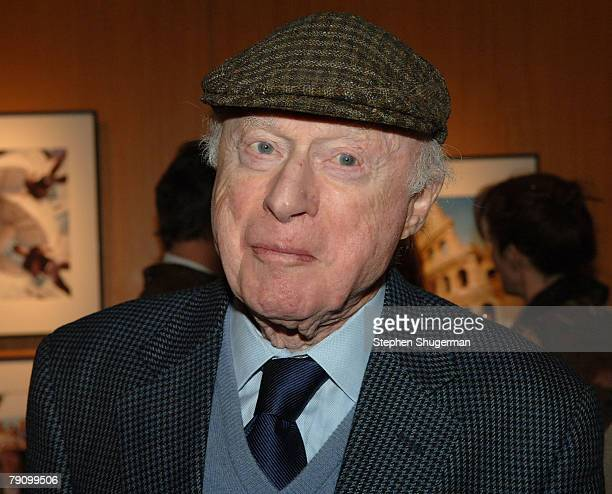 Actor Norman Lloyd attends the Grand Opening of the Academy of Motion Picture Arts and Sciences Winter 2008 Exhibitions at the Academy's Grand...