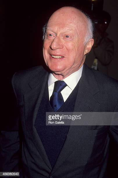 Actor Norman Lloyd attends the Museum of Broadcasting's Eigth Annual Television Festival KickOff Cocktail Reception on March 4 1991 at the Los...