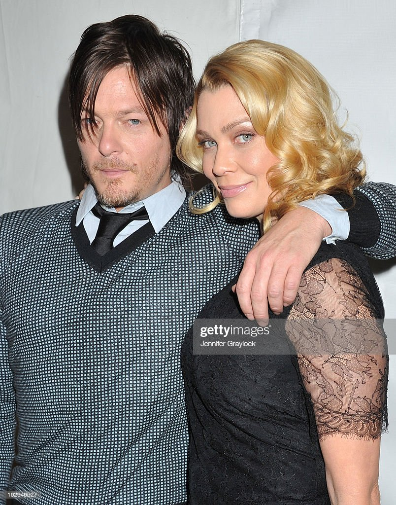 Actor <a gi-track='captionPersonalityLinkClicked' href=/galleries/search?phrase=Norman+Reedus&family=editorial&specificpeople=747258 ng-click='$event.stopPropagation()'>Norman Reedus</a> and Actress <a gi-track='captionPersonalityLinkClicked' href=/galleries/search?phrase=Laurie+Holden&family=editorial&specificpeople=678388 ng-click='$event.stopPropagation()'>Laurie Holden</a> attend the 30th Annual PaleyFest: The William S. Paley Television Festival honors 'The Walking Dead' held at the Saban Theatre on March 1, 2013 in Beverly Hills, California.