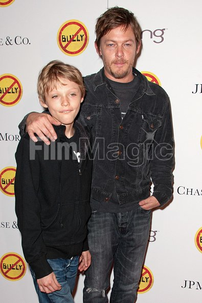 Actor Norman Reedus And Son