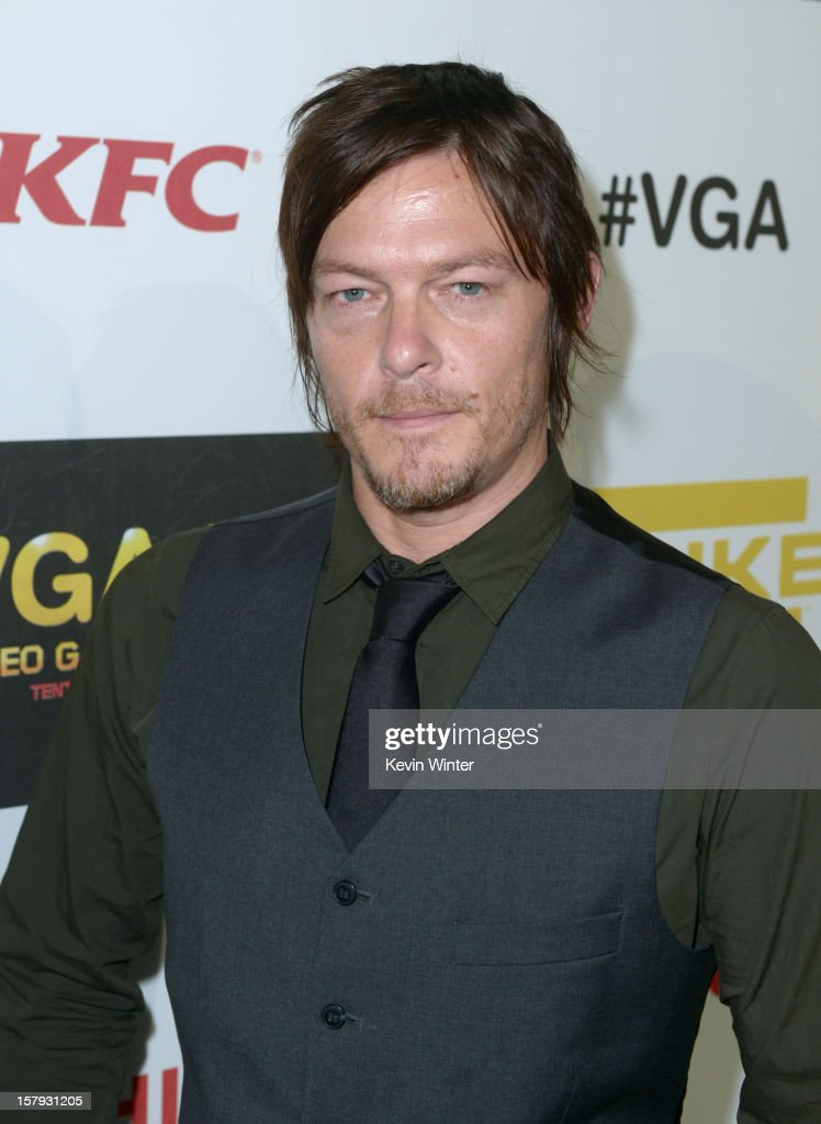 Actor Norman Reedus arrives at Spike TV's 10th annual Video Game Awards at Sony Pictures Studios on December 7 2012 in Culver City California