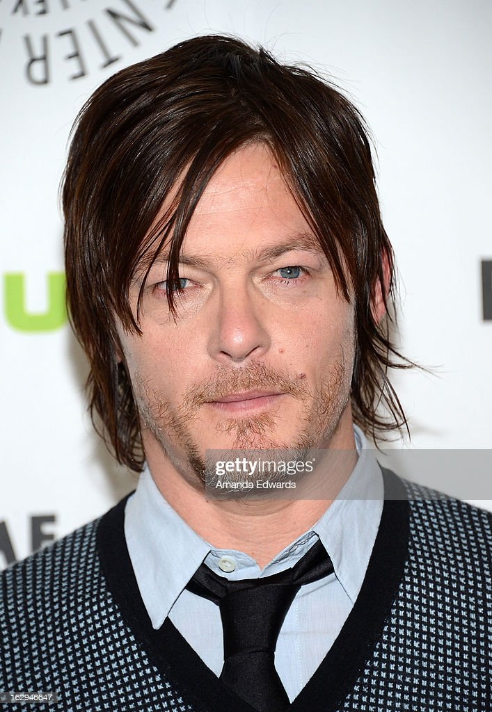 Actor Norman Reedus arrives at the 30th Annual PaleyFest: The William S. Paley Television Festival featuring 'The Walking Dead' at Saban Theatre on March 1, 2013 in Beverly Hills, California.
